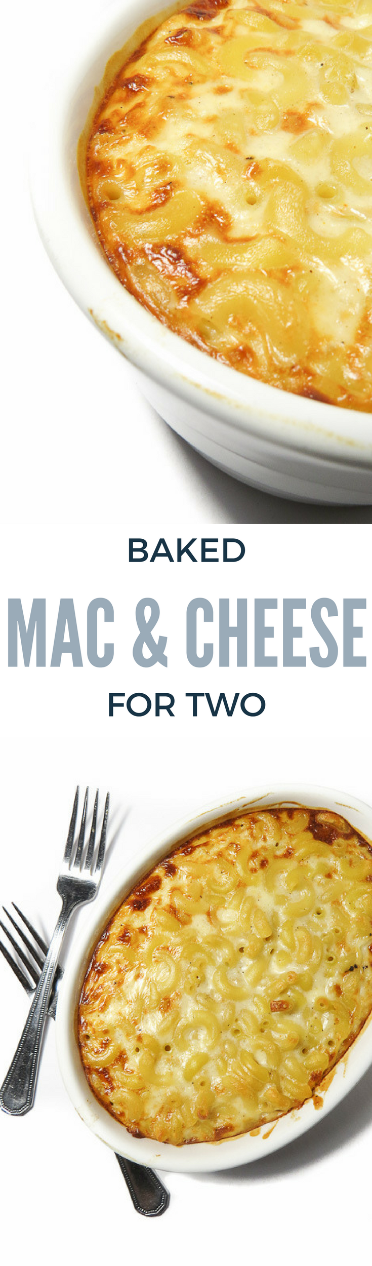 Baked Mac and Cheese for Two Pinterest Pin