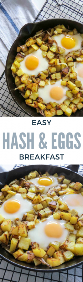 Easy Hash & Eggs Breakfast Pinterest Pin