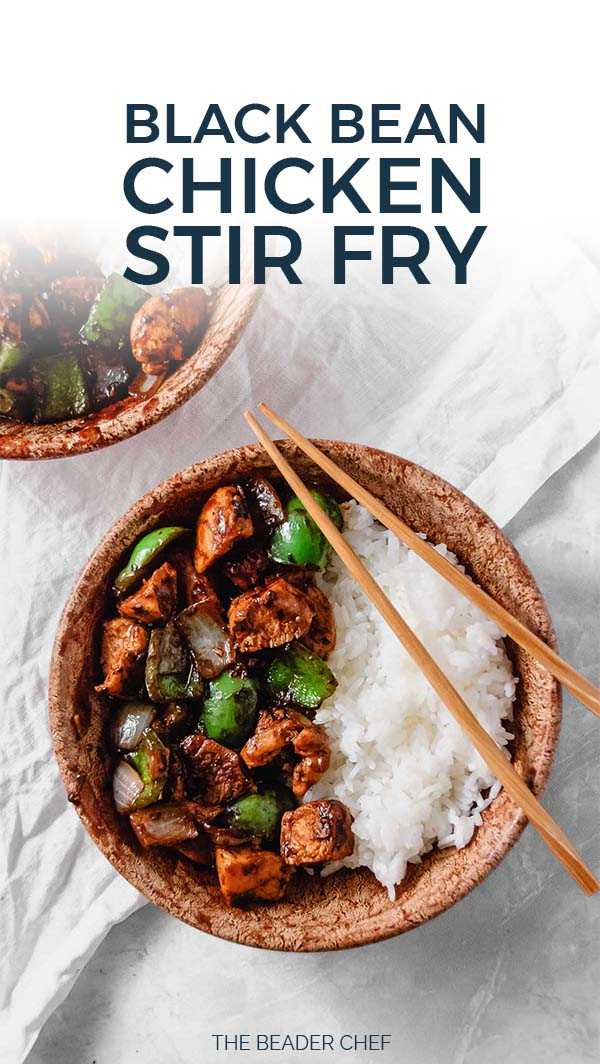 Black Bean Chicken Stir Fry Pinterest Pin