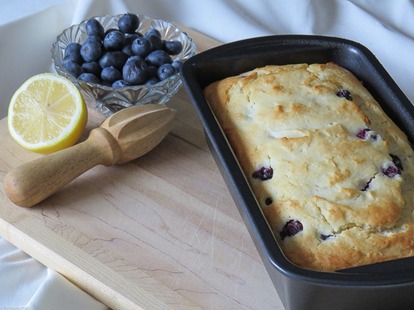 Blueberry-Lemon Yogurt Loaf - Starring blueberries and lemon this yogurt loaf is spring in every bite!