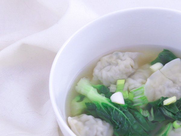 Bok Choy & Wonton Soup - Bok choy is delicious in this quick to make wonton soup - it is ultimate chinese comfort food!