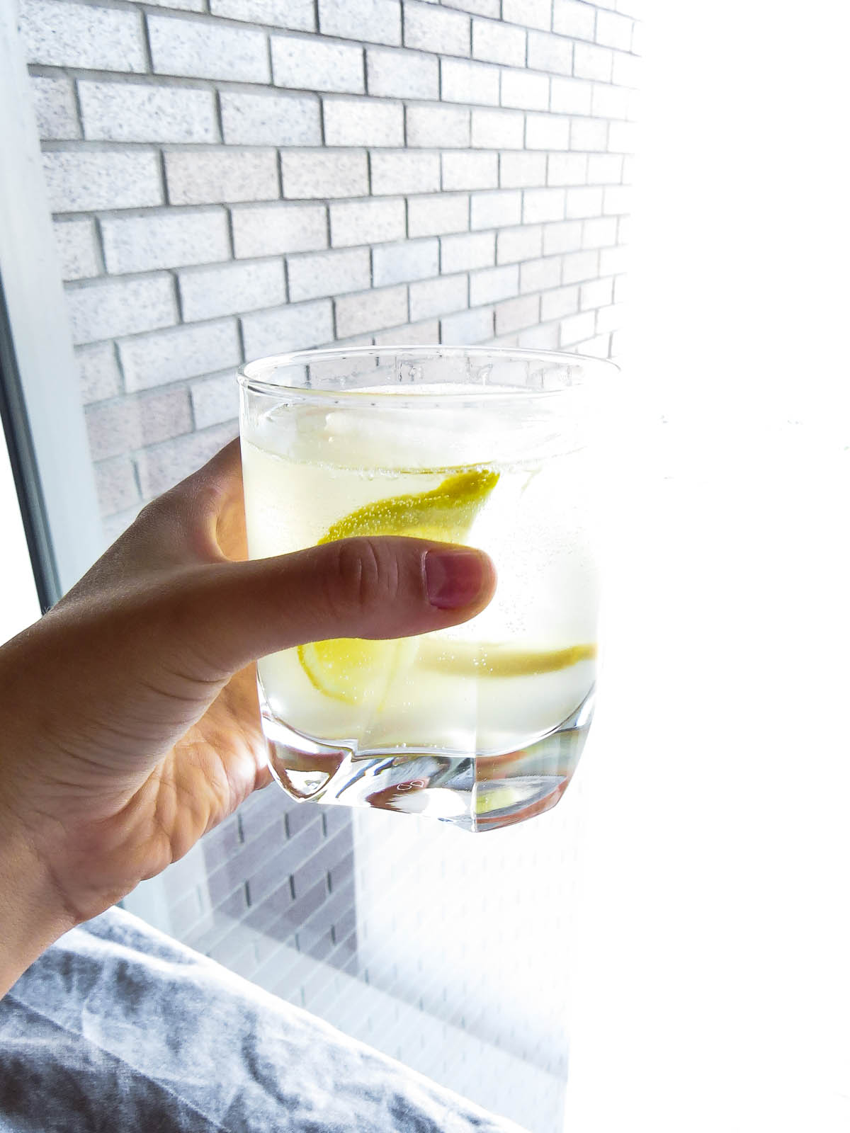 Ginger-Lemon Gin Fizz will become your go to for a refreshing drink with a little kick! Perfect for the last days of summer and enjoying time outside!