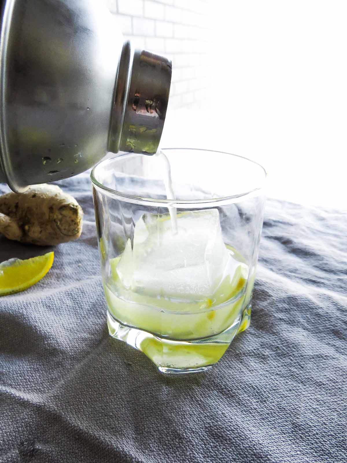 Ginger-Lemon Gin Fizz