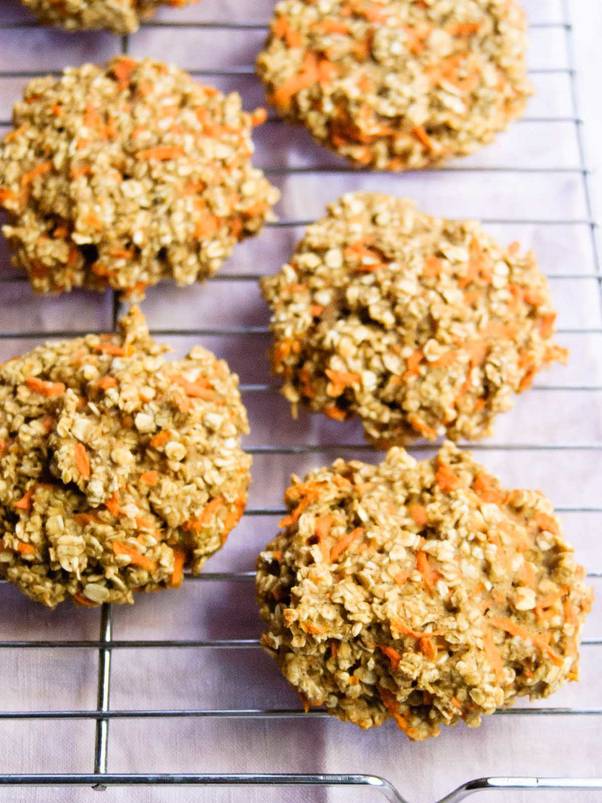 Healthy Oatmeal Carrot Breakfast Cookies