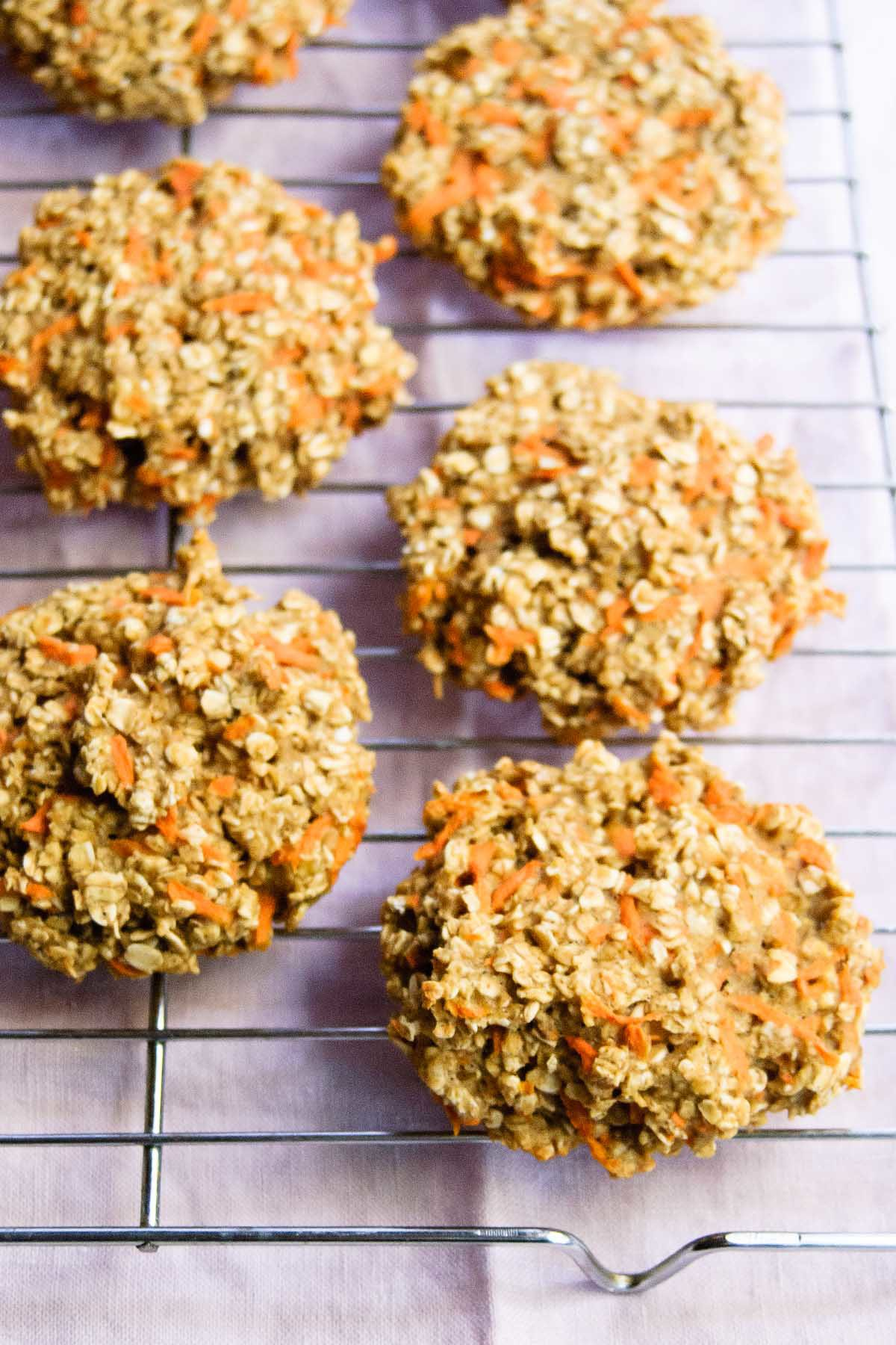 Healthy Oatmeal Carrot Breakfast Cookies