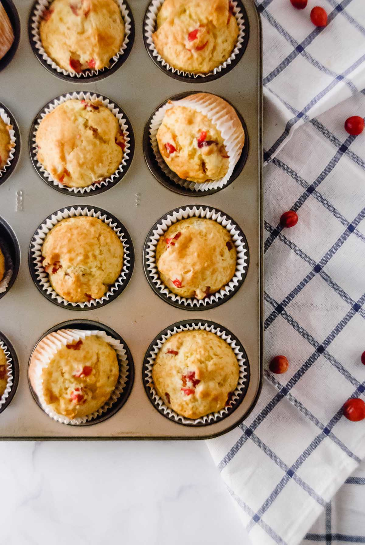 No Fuss Cranberry Orange Muffins