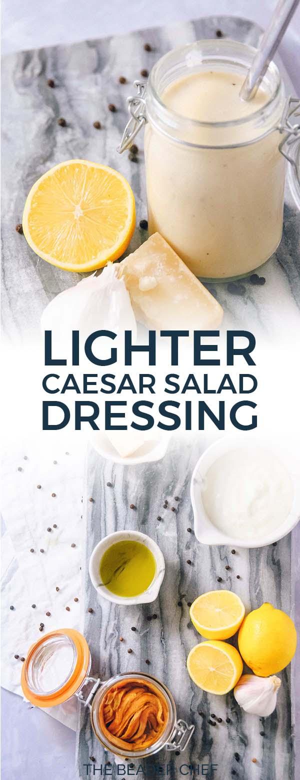 Lighter Caesar Salad Dressing Pinterest Pin