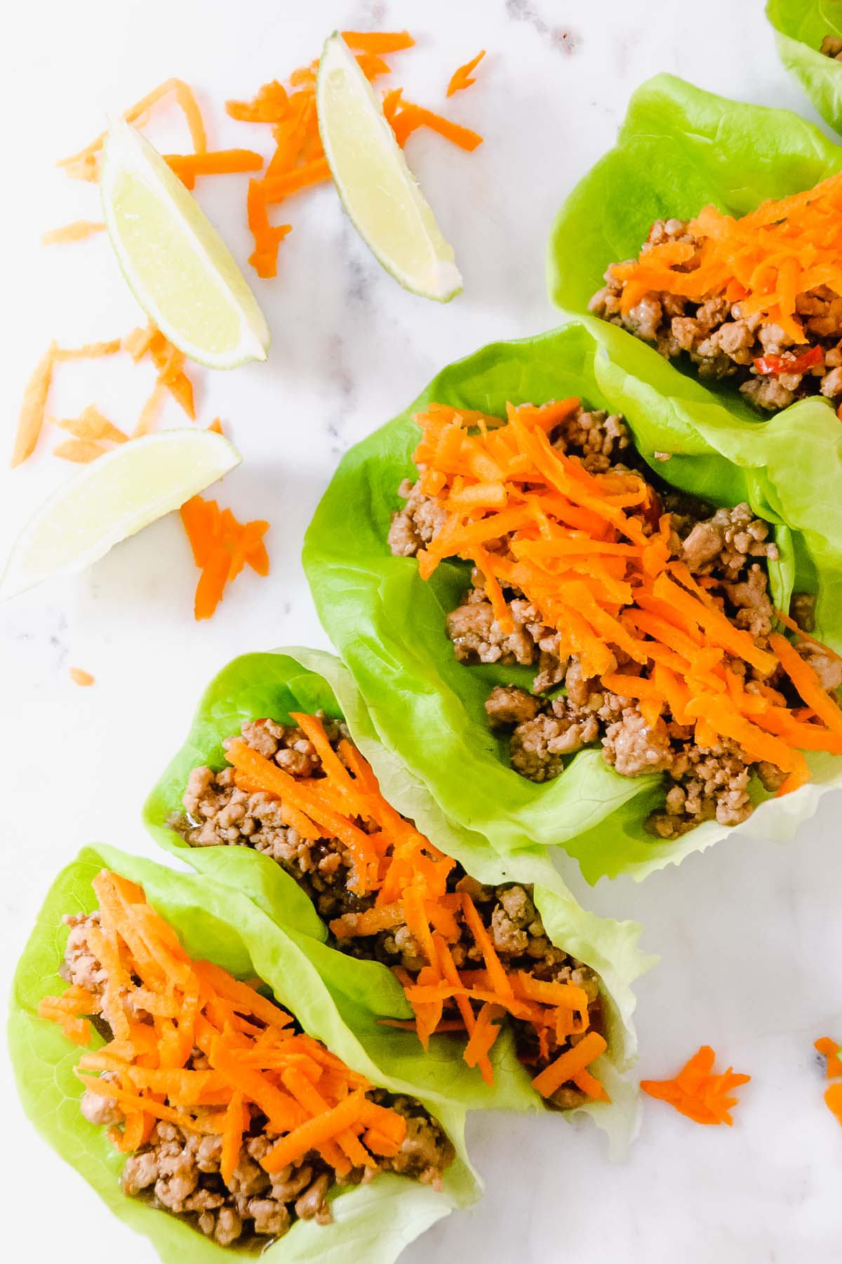 Spicy Garlic Pork Lettuce Wraps