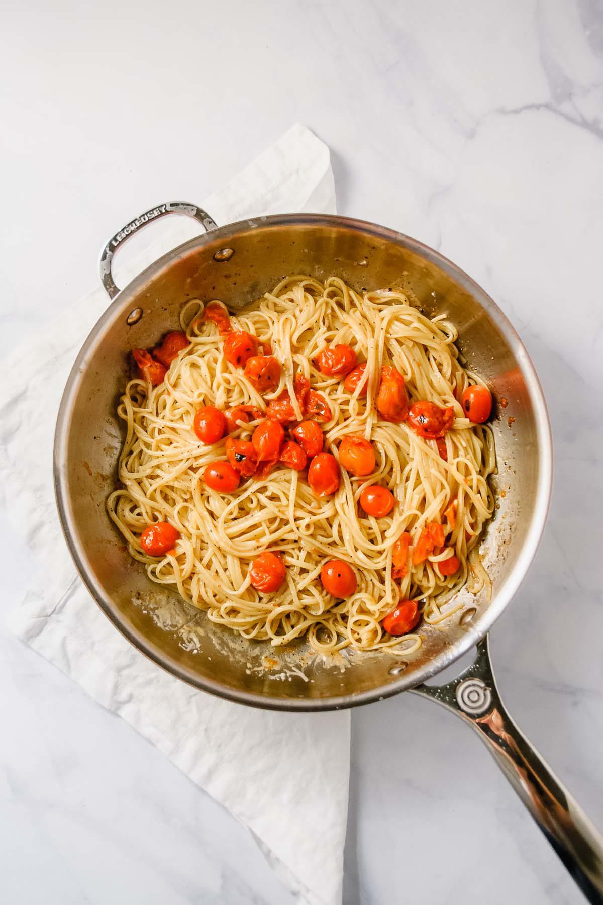 Charred Cherry Tomato Cacio e Pepe for Two