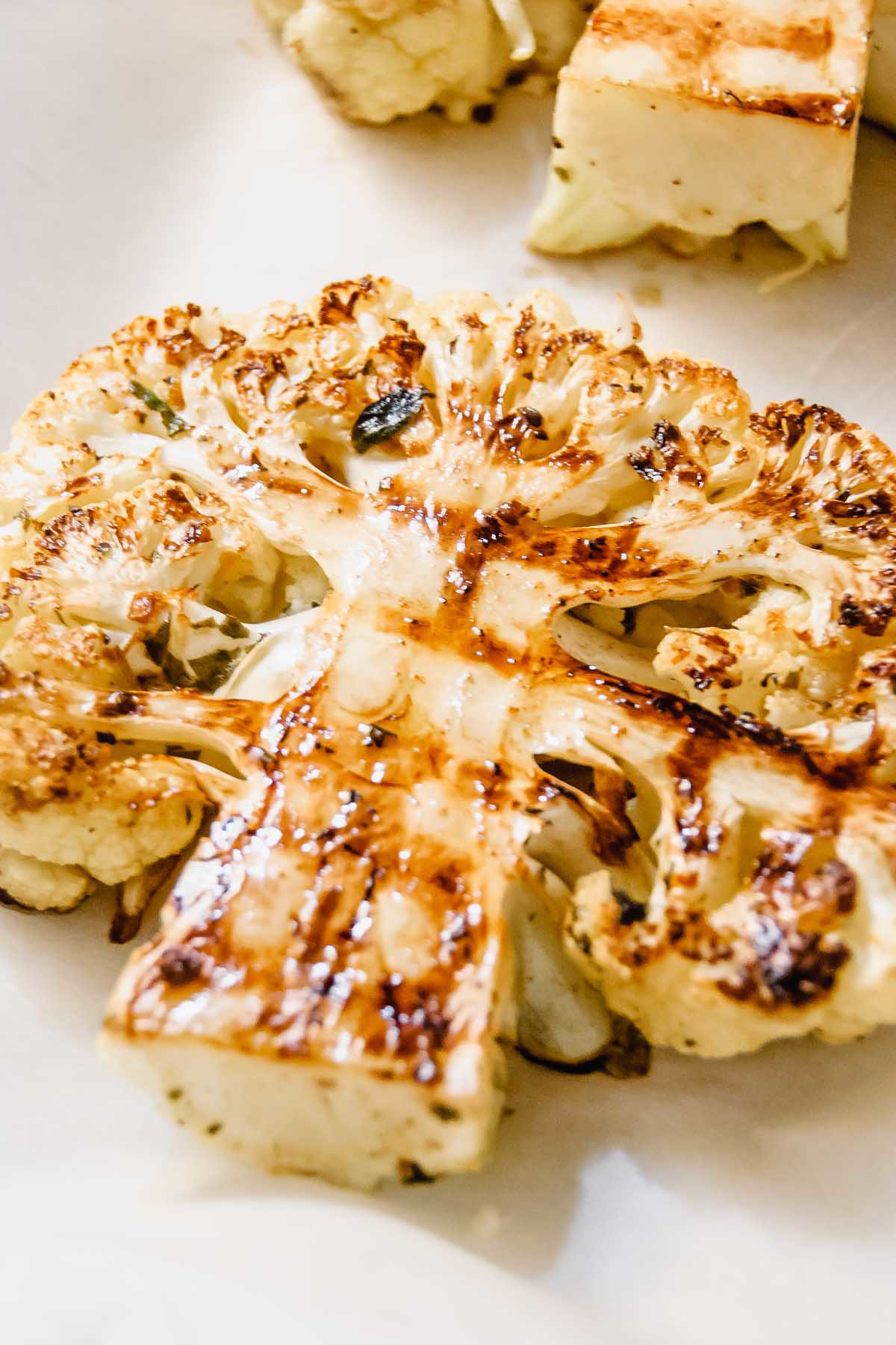 Grilled Greek Cauliflower Steak