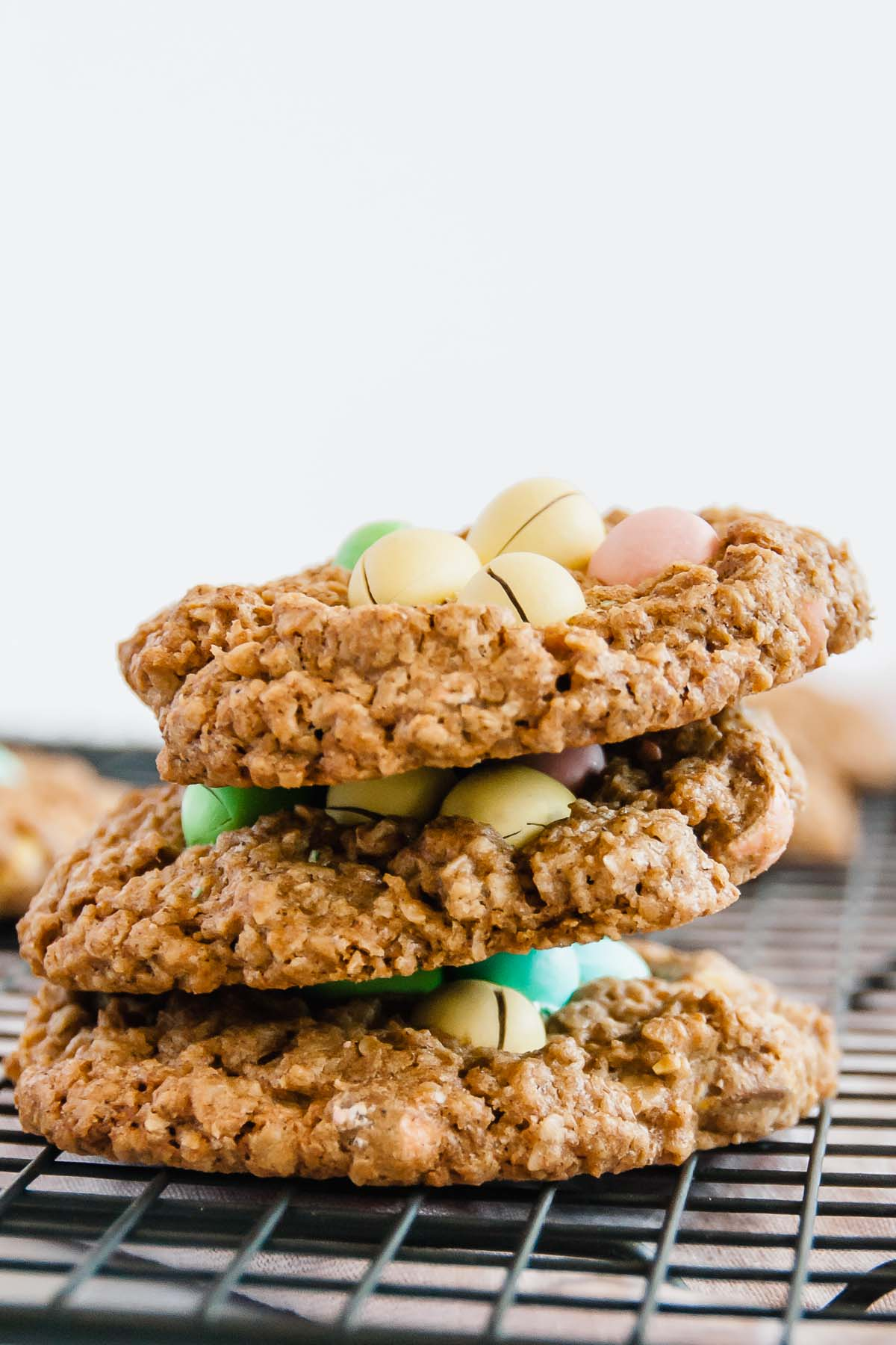 Small Batch Mini Egg Oatmeal Cookies