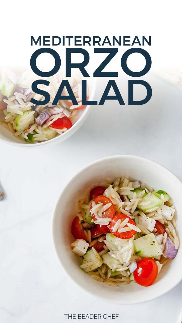 Mediterranean Orzo Salad Pinterest Pin