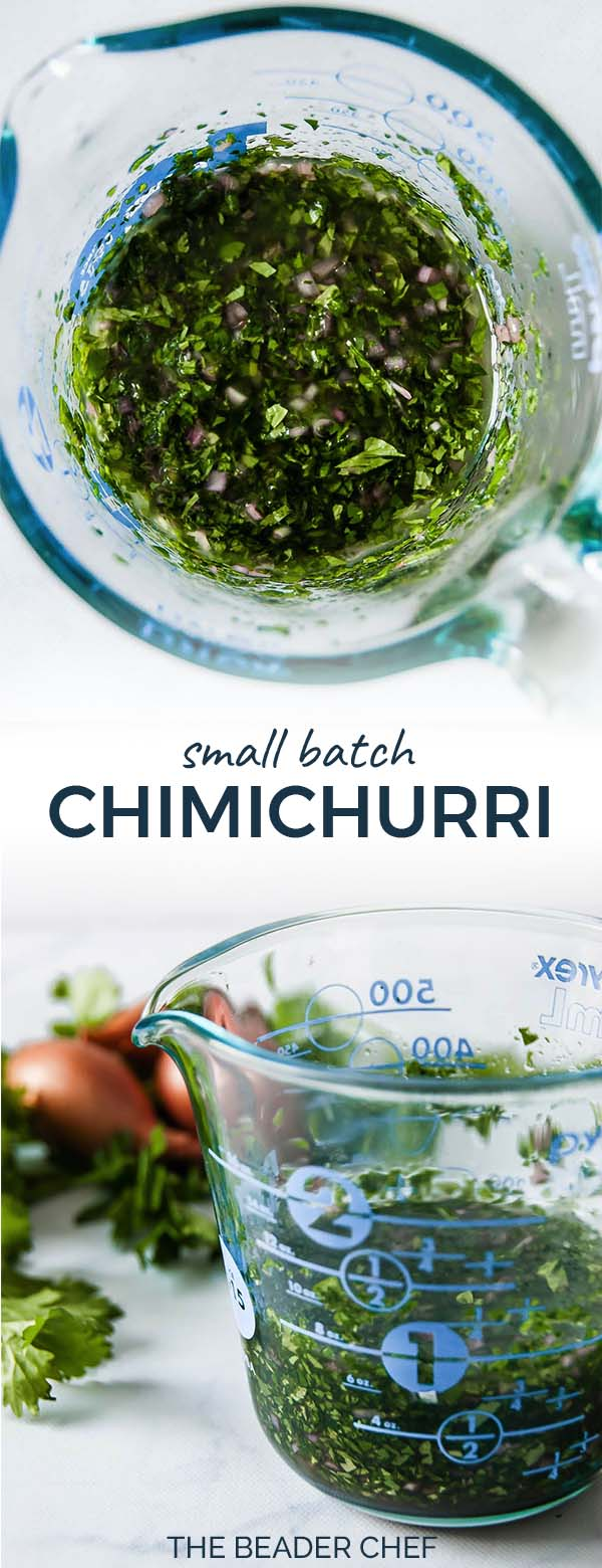 Small Batch Chimichurri Pinterest Pin