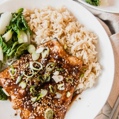 Baked Asian Salmon for Two