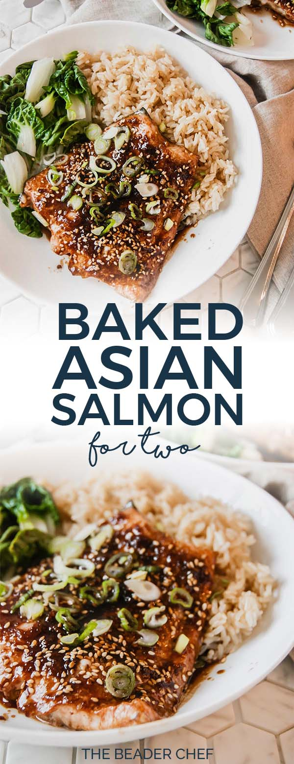 Baked asian salmon for two pinterest pin