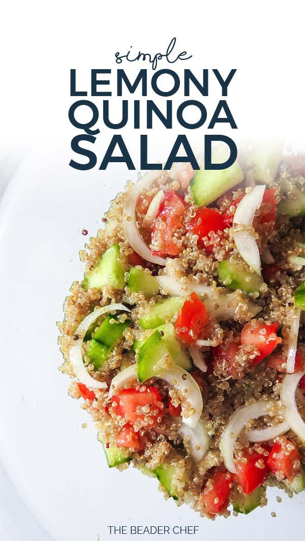 simple lemony quinoa salad pinterest pin