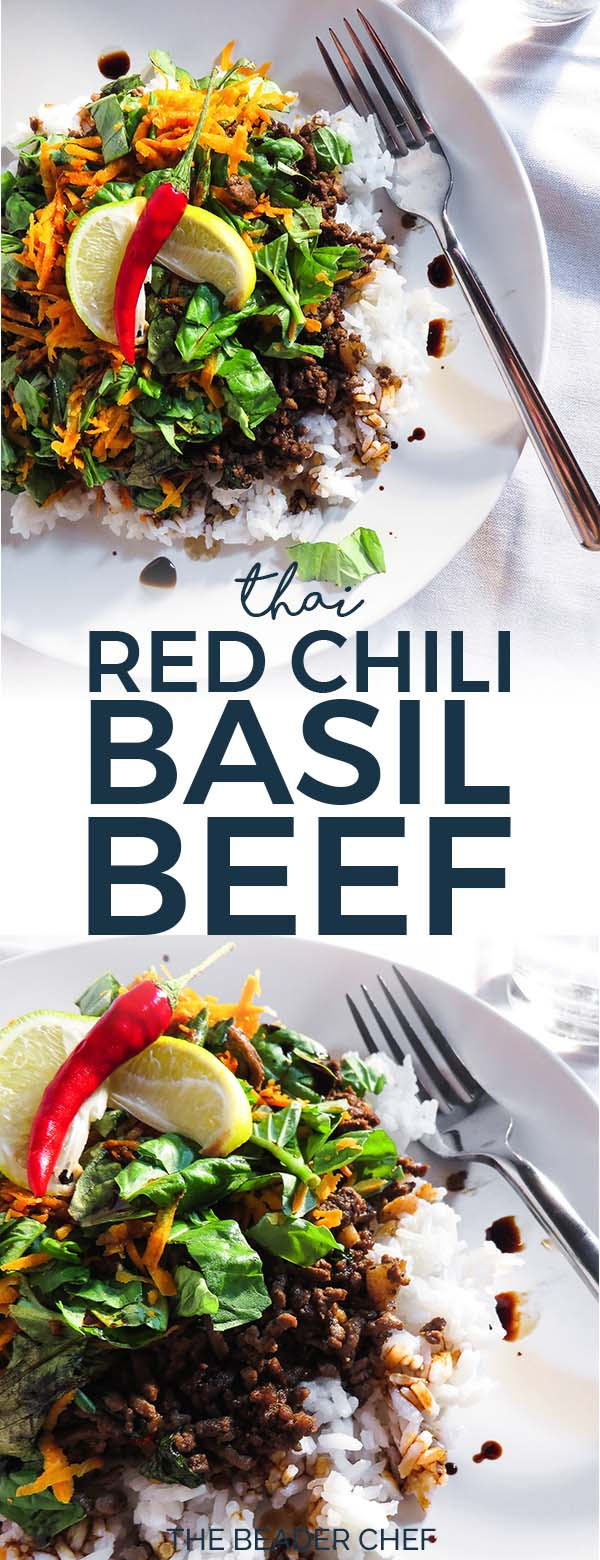 Thai red chili basil beef pinterest pin