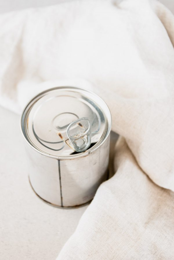 A can of slow cooker dulce de leche ready to be opened.