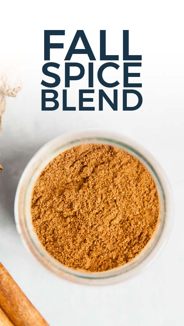 Fall spice blend (aka pumpkin spice) pinterest pin.