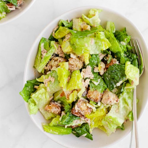 Tuna Caesar Salad For Two The Beader Chef